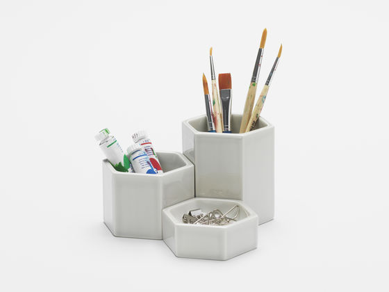 Hexagonal ContainersHexagonal Containers, Light grey