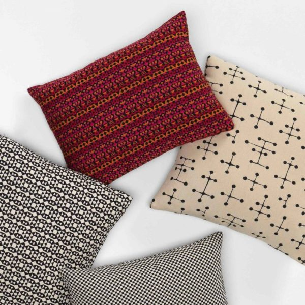Classic Maharam Pillowssmall dot pattern, beige